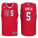 Josh Smith Los Angeles Clippers 2015-16 neue Saison Logo &5 Swingman Rot Günstig Basketball Trikots