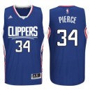 Paul Pierce Los Angeles Clippers 2015-16 neue Saison Logo &34 Swingman Blau Günstig Basketball Trikots