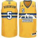 Denver Nuggets &5 Nate Robinson Revolution 30 Swingman Gold Günstig Basketball Trikots
