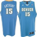 Denver Nuggets &15 Carmelo Anthony Light Blau Road Swingman Günstig Basketball Trikots