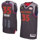 Kevin Durant Western Conference adidas 2017 NBA All-Star Game Swingman Trikot - Charcoal