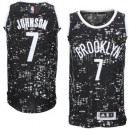 Brooklyn Nets &7 Joe Johnson Schwarz City Lights Fashion Swingman Günstig Basketball Trikots