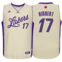 Los Angeles Lakers Roy Hibbert Cream 2015 Weihnachten Tag Swingman Günstig Basketball Trikots