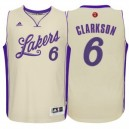 Los Angeles Lakers Jordan Clarkson Cream 2015 Weihnachten Tag Swingman Günstig Basketball Trikots