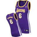 Los Angeles Lakers Jordan Clarkson Frauen Purple Günstig Basketball Trikots