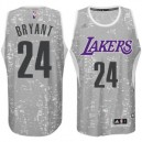 Los Angeles Lakers Kobe Bryant City Lights graue Swingman Günstig Basketball Trikots