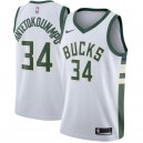 Giannis antetokounmpo Milwaukee Bucks Nike swingman Trikot White-Association Edition