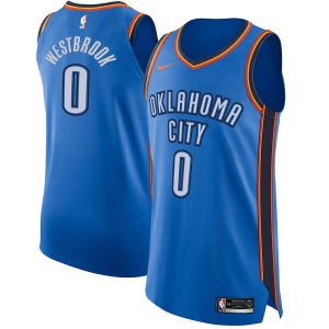 Russell Westbrook Oklahoma City Thunder Nike authentische Trikot Blue-Icon Edition