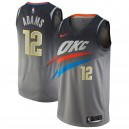 Steven Adams Oklahoma City Thunder Nike swingman Trikot Gray-City Edition