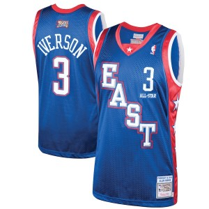 Allen Iverson Eastern Conference Mitchell & Ness 2004 All-Star Hardwood Classics authentisches Trikot – Blue