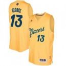 Paul George Indiana Pacers adidas 2016 Weihnachtstag Day Swingman Trikot - Gold