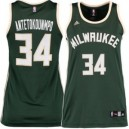 Giannis Antetokounmpo Milwaukee Bucks adidas Damen Replikat Trikot - Green