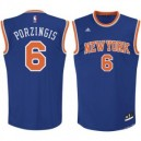 Kristaps Porzingis New York Knicks adidas Replikat Trikot - Royal