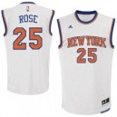 Derrick Rose New York Knicks adidas Replikat Trikot - Weiß