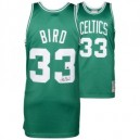 Larry Bird Boston Celtics NbaBasketballTrikot authentische handsigniert grün authentische Mitchell und Ness Trikots