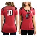Damian Lillard Portland Trail Blazers Majestic Damen Draft Him Trikot Top T-Shirt - Rot