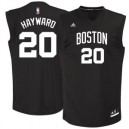 Herren Adidas Gordon Hayward Black Boston Celtics Chase Fashion Replica Trikots